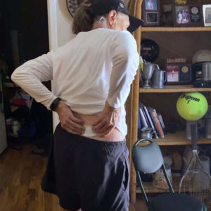 Person in lower back pain